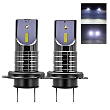 Delanteros H7 LED Faro Bombillas Kit, 2 Bombilla Coche,6000 K, 13000 LM
