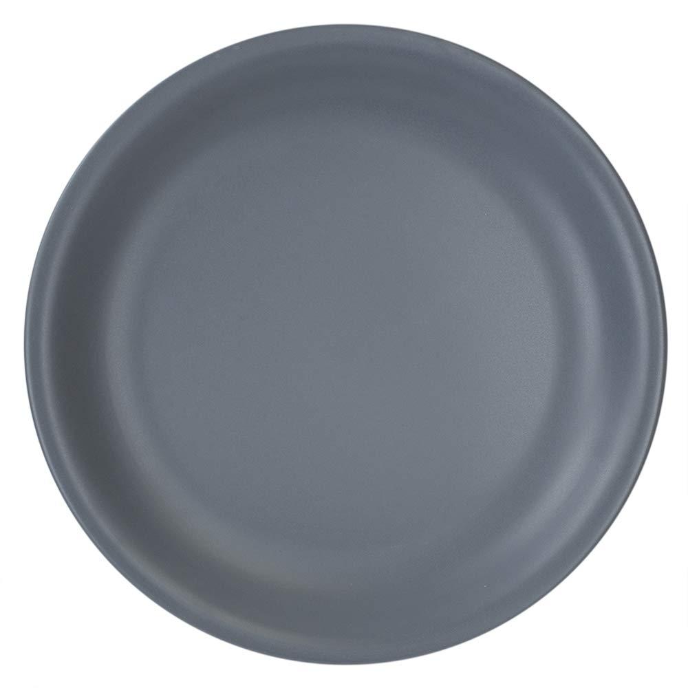 Grey Dinner Plate One Size Home Basics CD45748 10.5 Ceramic