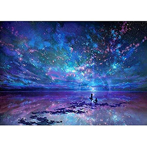 Werewtr Diamond Drawing DIY 5D Diamond Painting Kits Full Drill, Rhinestone Crystal Embroidery Pictures Cross Stitch for Home Wall Decoration Aurora Stars in Night Sky,60Cmx70Cm