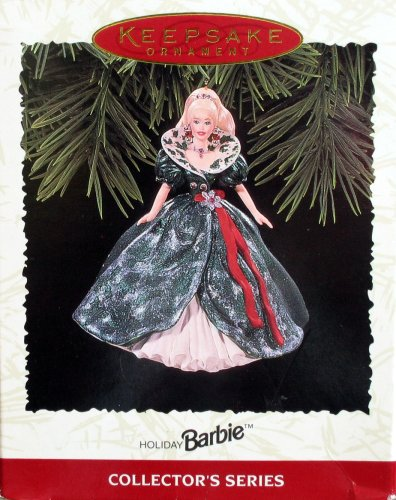 Keepsake Ornament, Holiday Barbie, Collector's Series, Third in the Holiday Barbie Series. Handcrafted, Dated 1995