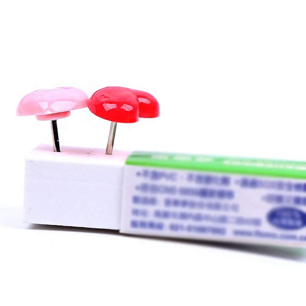 in tessuto 10 * 12 * 10.5MM Rosa per tagliere puntine in plastica puntine per puntine WDOIT 50 puntine rosa a forma di cuore
