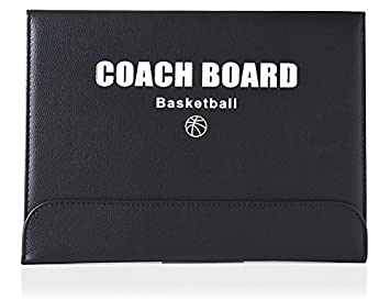 ZXJOY Basketball Coach Tactical Board Coaching Magnetic Strategy Clipboard Zipper Bag with Writing Wipe Two-in-one Pen (Red)