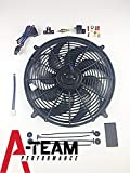 A-Team Performance 180081 16' Heavy Duty 12V Radiator Electric Wide Curved...