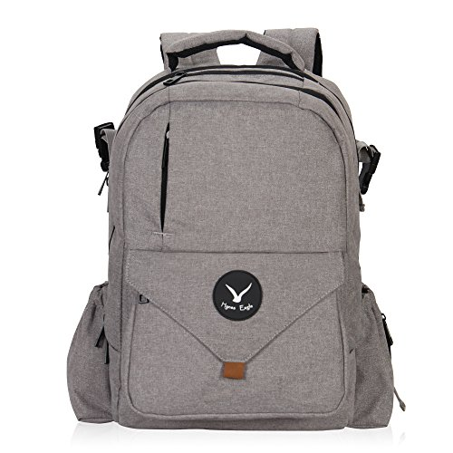 Hynes Eagle Multipurpose Diaper Backpack Baby Travel Bag for Dad or Mom Gray by Hynes Eagle