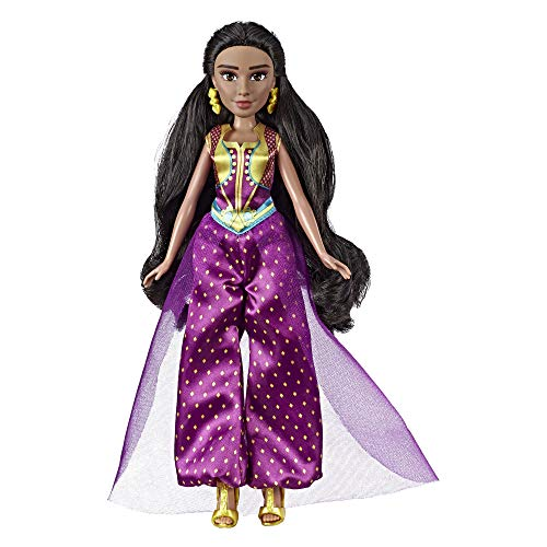 Disney Princess Jasmine Fashion Doll with Gown, Shoes, & Accessories, Inspired by Disney's Aladdin Live-Action Movie, Toy for 3 Year Olds]()
