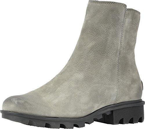Sorel Women's Phoenix Zip Booties, Nubuck/Quarry, Grey, 8 M US