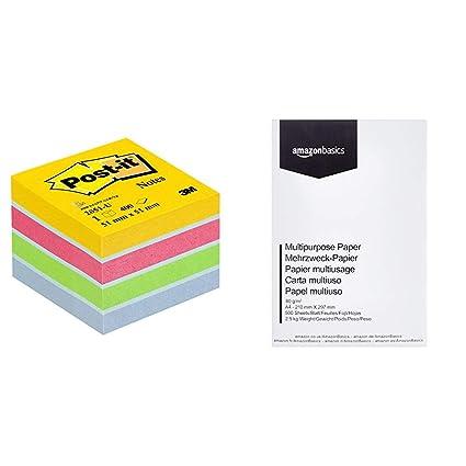 Post-It 2051-U - Papel para notas auto adhesivo (5.1 x 5.1 cm ...