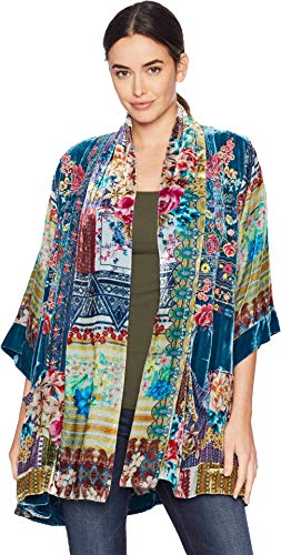 Johnny Was Women's Printed Kimono with Embroidery, Multi, M