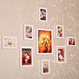 ZYANZ Irregular White Pine Combo Photo Frame, Rectangle (9 Packs)