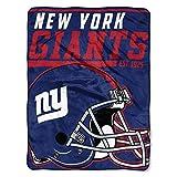 NFL New York Giants 40 Yard Dash Micro Raschel Throw, 46″ x 60″
