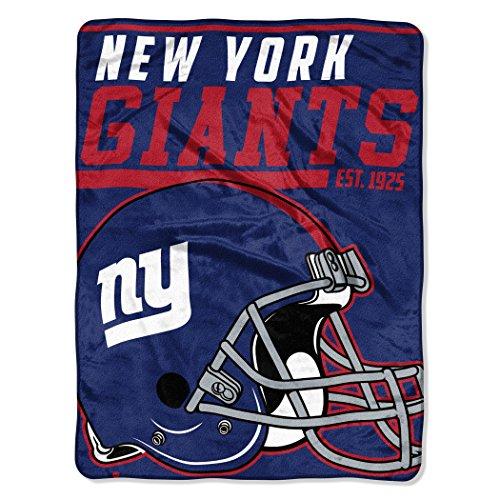 NFL New York Giants 40 Yard Dash Micro Raschel Throw, 46