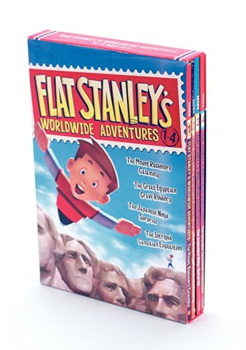 Flat Stanley's Worldwide Adventures #1-4 Box Set (Flat Stanley Book 4)