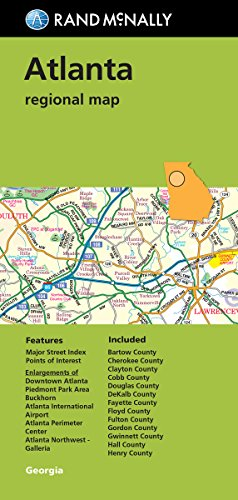 (Folded Map: Atlanta Regional Map)