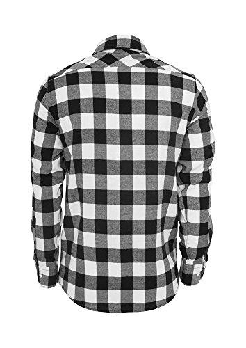 TB297 Checked Flanell Shirt Hemd, Größe:L;Farbe:blk/wht