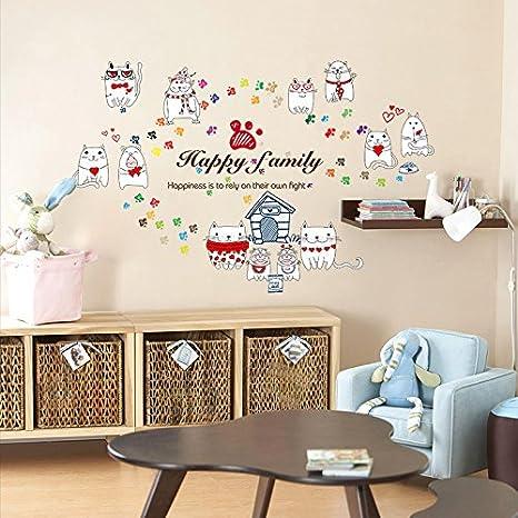 HCCY Habitación niños Dormitorio Dormitorio vinilos decorativos ...