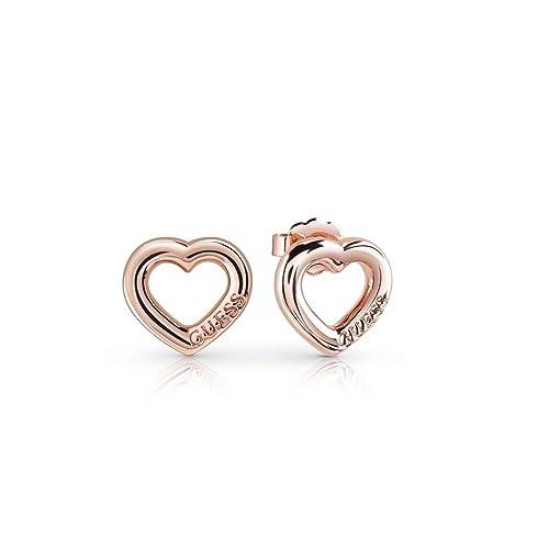 62eacdd28425 Guess Aretes Rose Gold Corazón Joyeria para Mujer Oro Talla Unitalla ...