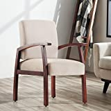 Harper&Bright Design Guest Chairs Reception Chairs with Armrest Arm Chair Office Furniture (Beige)