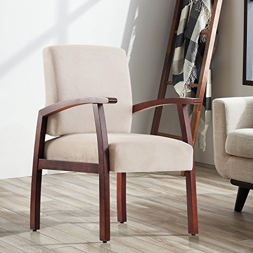 Harper&Bright Design Guest Chairs Reception Chairs with Armrest Arm Chair Office Furniture (Beige) by Harper&Bright Design
