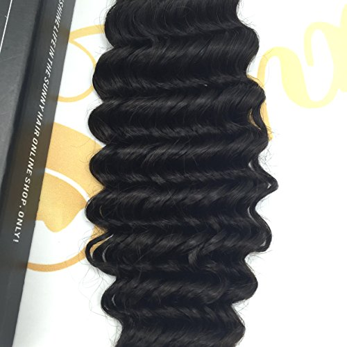 Sunny Sin Procesar Virgen Brasileno Sew-in Weave Cabello Humano 1 Bundle 16 Pulgadas Rizado/Deep Curl Hair Weaving Extensions Natural Nergo 100g: Amazon.es: ...