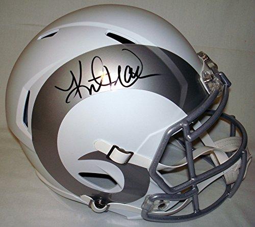 Kurt Warner Signed / Autographed St Louis Rams Ice White Full Size Football Helmet - JSA Certified - Authentic Kurt Warner Jersey