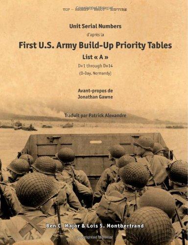 Unit Serial Numbers d'aprËs la ´ First U.S. Army Build-Up Priority Tables, List A (D+1 through D+14) ª D-Day (Normandy) Top Secret - BIGOT NEPTUNE (French Edition)