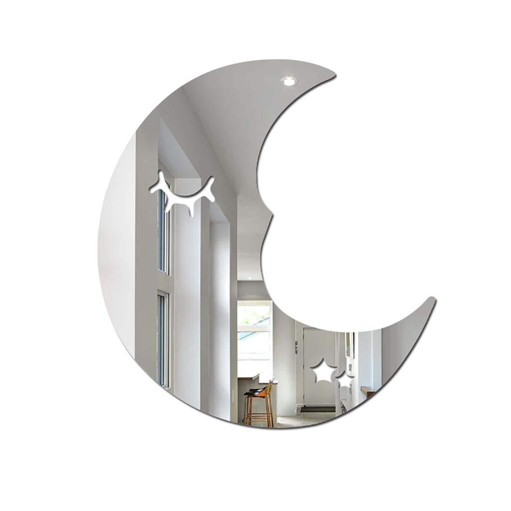 YJYdada Nordic Acrylic Mirror Cartoon Wall Camera Props Kids Room Wall Decoration (N)