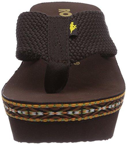 Rocket Dog Desta Webbing - Sandalias de sintético para mujer marrón - Brown (Tribal Brown)