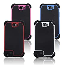 New Arrival Hybrid White Hard Plastic + Black Soft Silicone Cool Cases for Samsung Galaxy Note 2 N7100