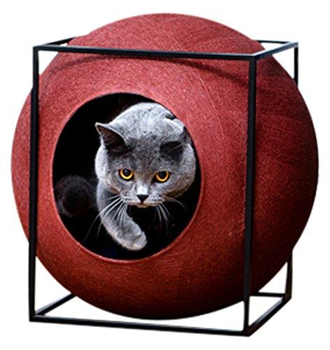 Meyou Katzenhöhle Schlafplatz Cube Metal bordeaux