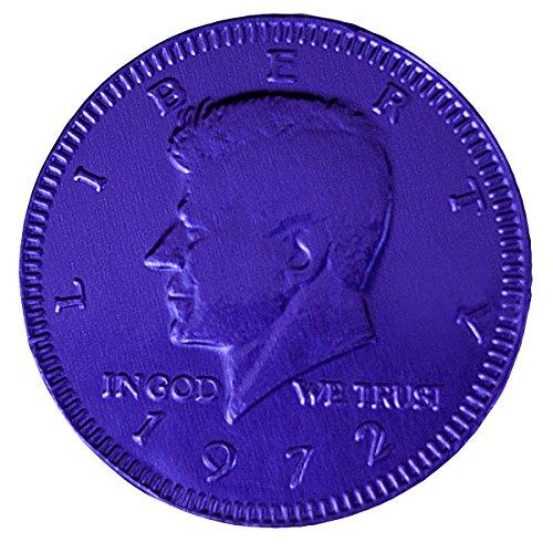 Purple Colored Bulk Dutch Milk Chocolate Coins, 5