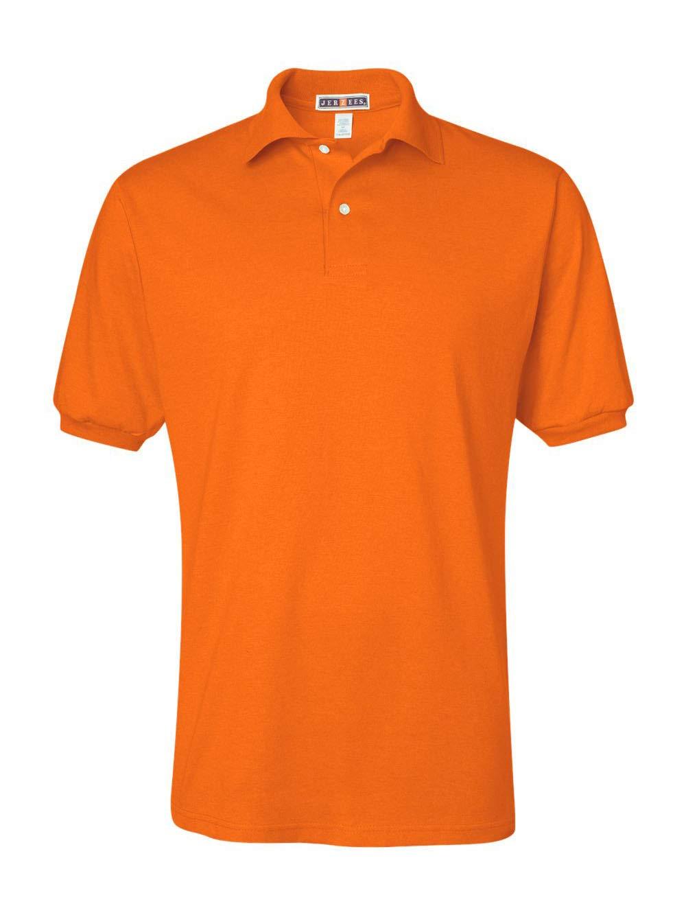 Jerzees Men's Spot Shield Short Sleeve Polo Sport Shirt, Safety Orange, 2X-Large