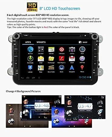 Pupug Stereo 8 pulgadas Android 4.2 HD DVD del coche ...