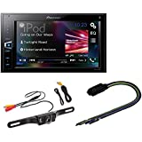Pioneer MVH-AV290BT 6.2 Double-DIN Receiver with BluetoothRadioBypass Pulse Parking Brake video overide for AVH Pioneer + Rear View Night Vision LIcense Plate Parking Camera