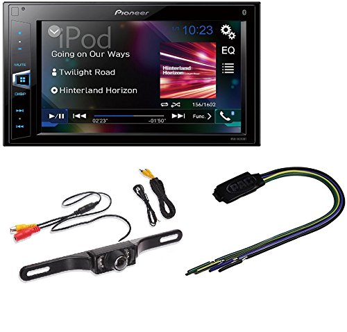 "Pioneer MVH-AV290BT 6.2"" Double-DIN Receiver with BluetoothRadioBypass Pulse Parking Brake video overide for AVH Pioneer + Rear View Night Vision LIcense Plate Parking Camera"
