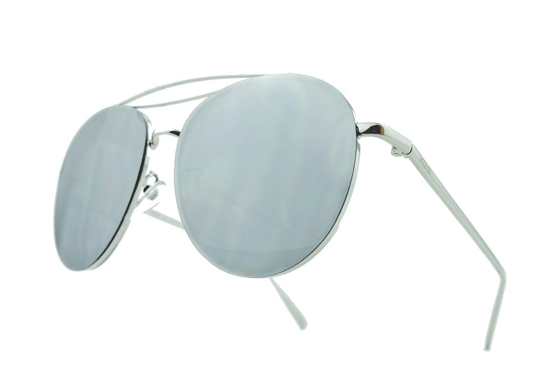 MOGENSEN Sonnenbrille Billy Aviator flat - silber verspiegelt qX9SSUZhf