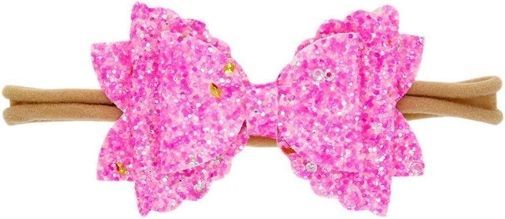 Lazzboy Haarband Sch/öne S/ü/ße Baby M/ädchen Pailletten Bogen Elastische Haarseil Cute Girls Sweet Rose Blumen Perle Elastisch Haar Band Zubeh/ör Foto Props