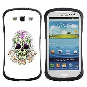 Paccase / Suave TPU GEL Caso Carcasa de Protección Funda para - Diamond Skull Treasure Gold Death - Samsung Galaxy S3 I9300