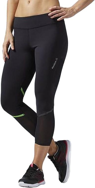 Womens Mesh Capri Gym Fitness Yoga Pants Running Active Leggings With Pocket JF