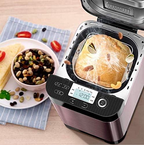 YOSAN Automatique Programmable Multifonctionnel Machine à Pain avec 18 programmes, et Automatique Distributeur de levure, Fruit Nut Cadre sans Gluten,Rouge