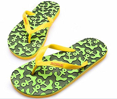 Anbover Confortable Semelle À Motifs Plage Tong Flip Tong Sandal Vert