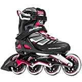 Rollerblade Macroblade 90 W Performance by SG9 Bearings Inline Skates, Black/Cherry, US Women's 8