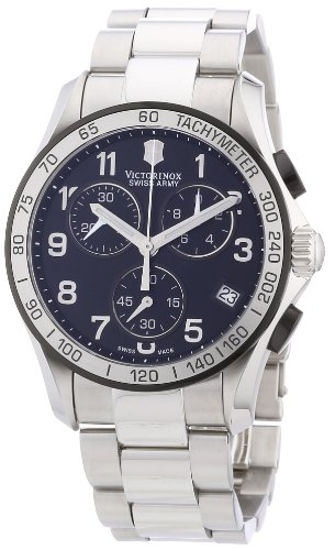 - Victorinox Swiss Army Men's 241403 Chrono Classic Chronograph Black Dial Watch