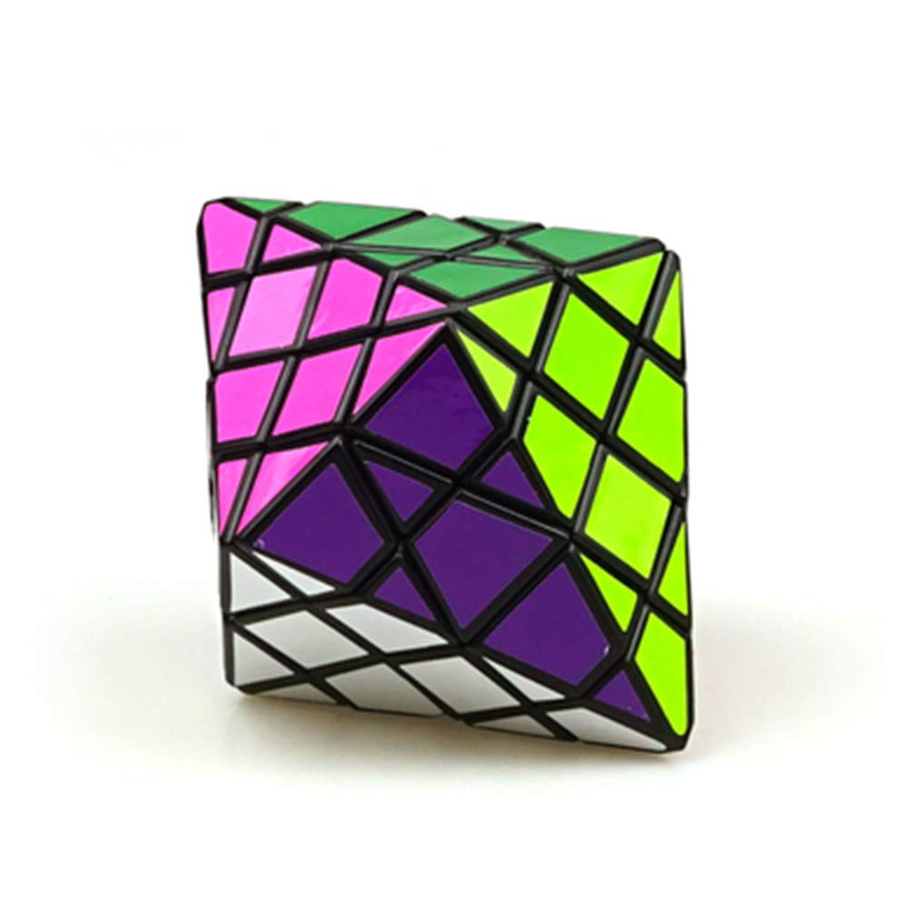 JIAAE Octagonal Cone Rubik's Cube Professional Competition High Difficulty Rubik Children Puzzle Toy,Black