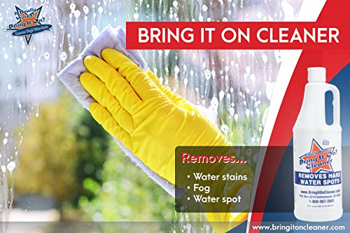 Bring It On Cleaner Hard Water Stain Remover, Shower Door Cleaner, Clean Tile and Grout, Windows, Fiberglass, Tubs, Chrome,32 Ounce.