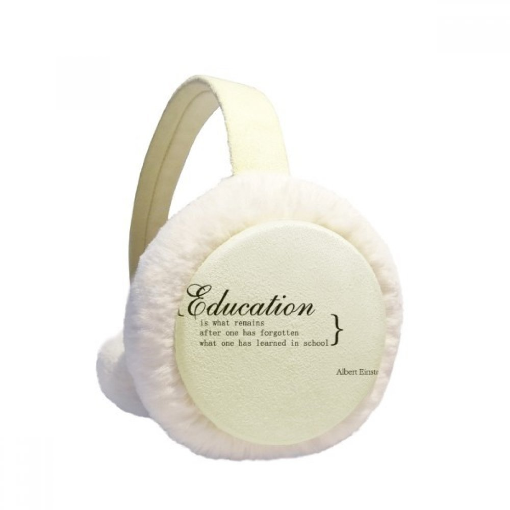 Inspirational Quote about education Winter Earmuffs Ear Warmers Faux Fur Foldable Plush Outdoor Gift