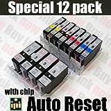 12PK PGI-5 CLI-8 Ink Cartridges for