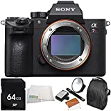 Sony Alpha a7R III Mirrorless Digital Camera (Body Only) 5PC Accessory Bundle – Includes 64GB SD Memory Card + LED Light Flash with Large Diffuser & Bracket + MORE