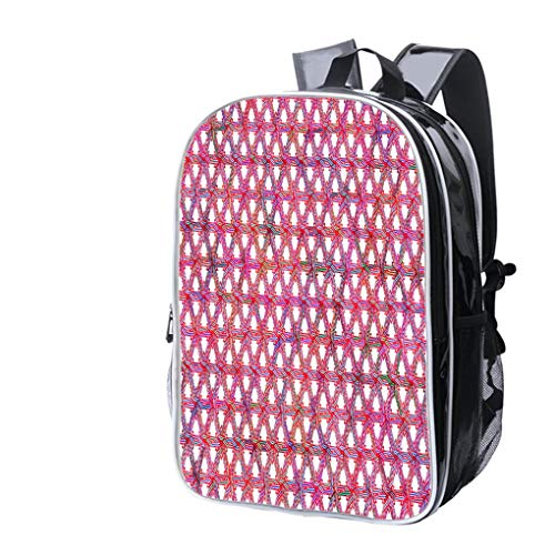 High-end Custom Laptop Backpack-Leisure Travel Backpack Color Full Elastic Love Heart Shape Loom Bands Close up with Magnifying Water Resistant-Anti Theft - Durable -Ultralight- Classic-School-Black]()