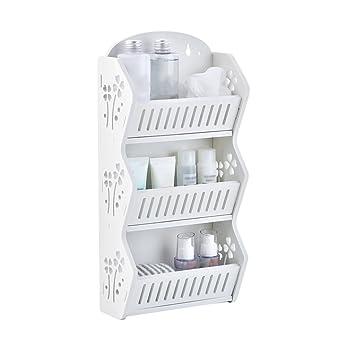 Badezimmer Regal Einfache weiße hohle geschnitzt Craft Badezimmer ...
