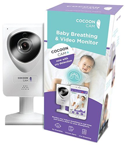 Cocoon Cam Plus HD Video Baby Monitor with No-Wearables Vital Sign Monitoring, 2-Way Audio, Cry Detection, Real-Time Alerts, Sleep and Movement Sensing by Cocoon Cam